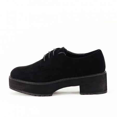 Pantofi oxford negri Miruna [0]