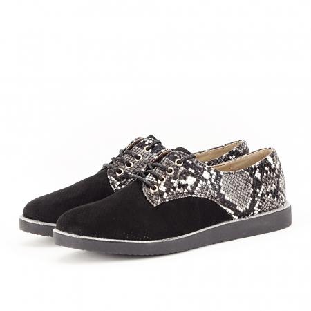 Pantofi oxford negri Patricia [0]