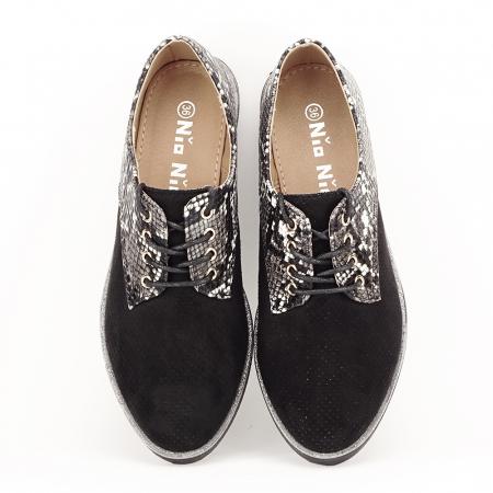 Pantofi oxford negri Patricia [5]