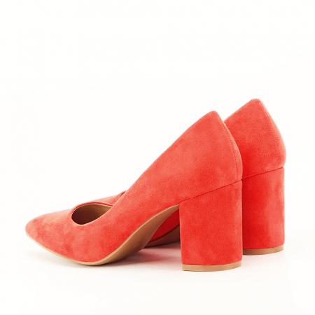 Pantofi portocalii cu toc gros Adelina4