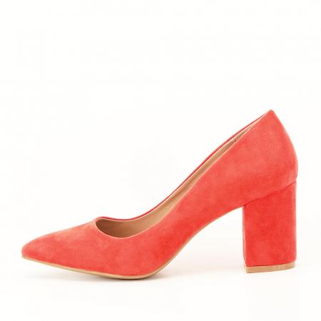 Pantofi portocalii cu toc gros Adelina2