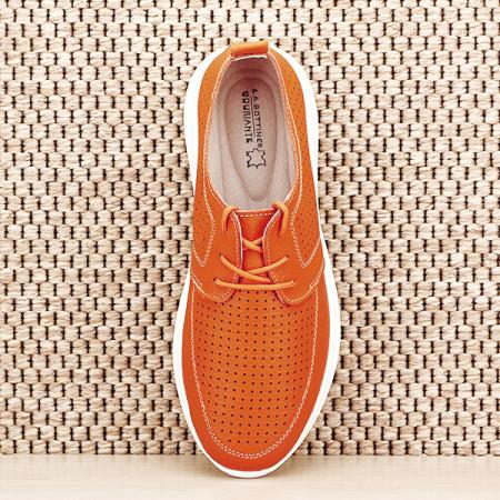 Pantofi piele naturala portocalii Angela [6]