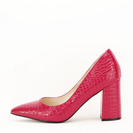 Pantofi rosii cu imprimeu Bianca0