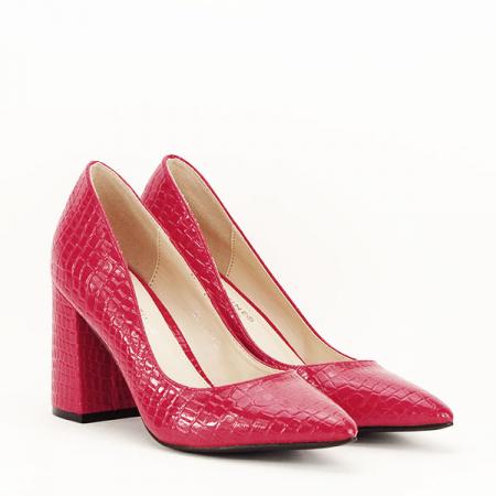 Pantofi rosii cu imprimeu Bianca3