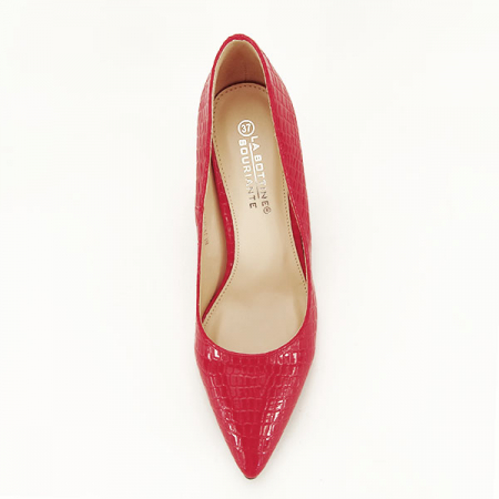 Pantofi rosii cu imprimeu Bianca1