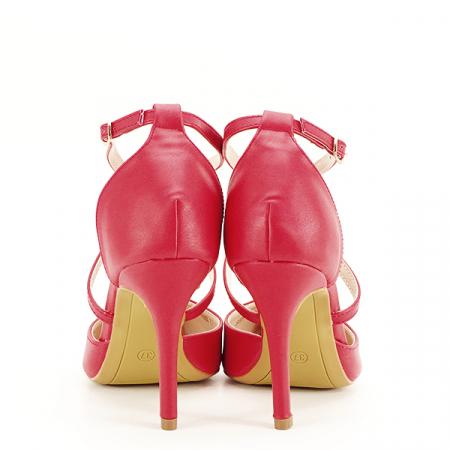 Pantofi rosii cu toc cui Zoe [5]