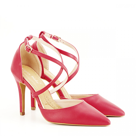Pantofi rosii cu toc cui Zoe [2]