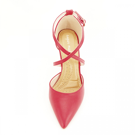 Pantofi rosii cu toc cui Zoe [6]