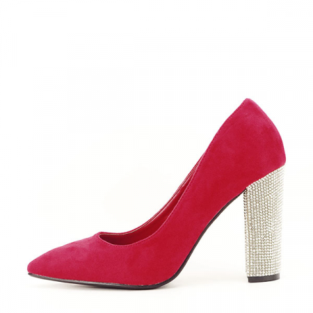 Pantofi rosii cu toc Debbie0