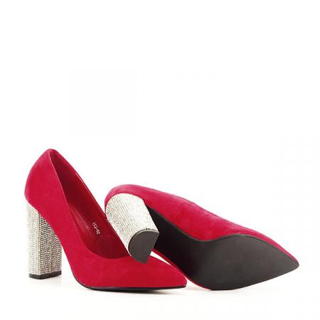Pantofi rosii cu toc Debbie6