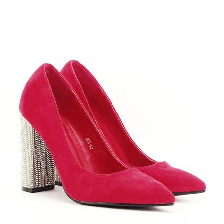 Pantofi rosii cu toc Debbie2