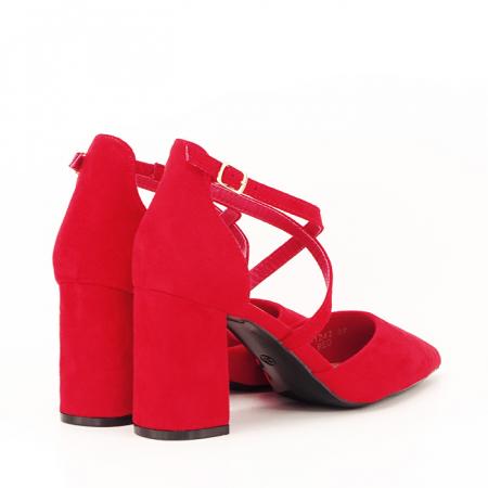 Pantofi rosii cu toc gros Amira [2]