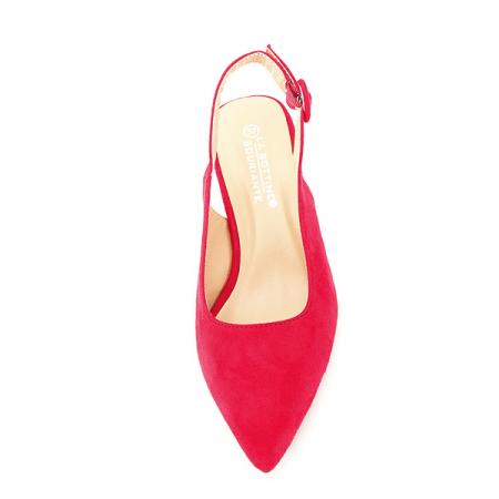 Pantofi rosii cu toc mic Simina [6]