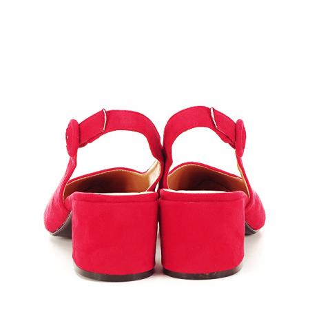 Pantofi rosii cu toc mic Simina [5]