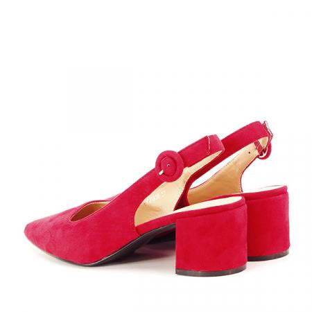 Pantofi rosii cu toc mic Simina [3]
