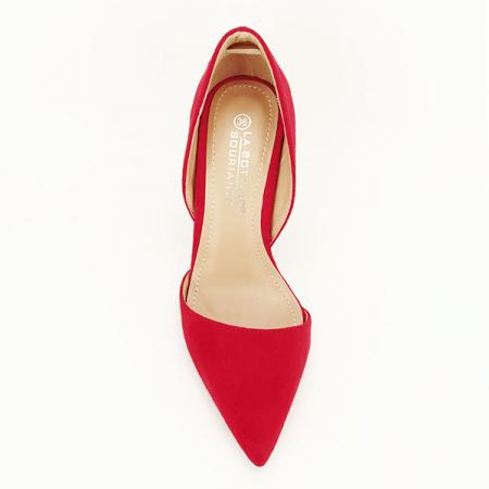 Pantofi rosii decupati Antonia [1]