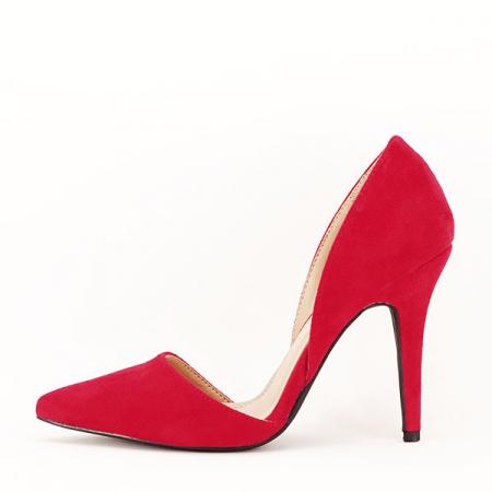 Pantofi rosii decupati Antonia0