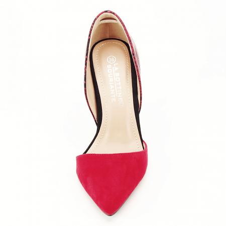 Pantofi rosii decupati lateral Lori5
