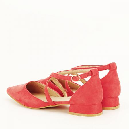 Pantofi rosu corai cu toc mic Carmen [3]