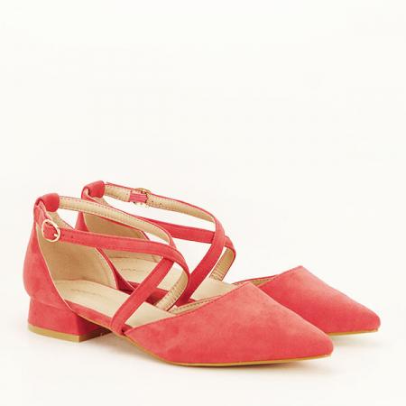 Pantofi rosu corai cu toc mic Carmen [2]