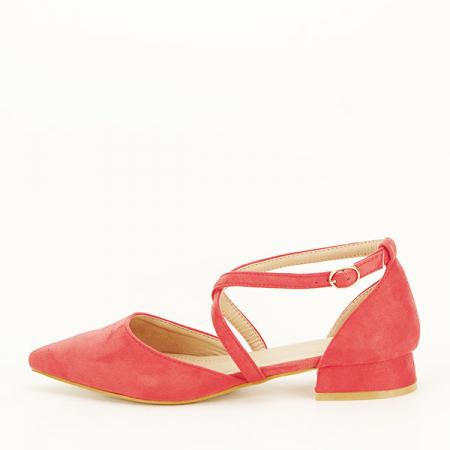 Pantofi rosu corai cu toc mic Carmen [1]