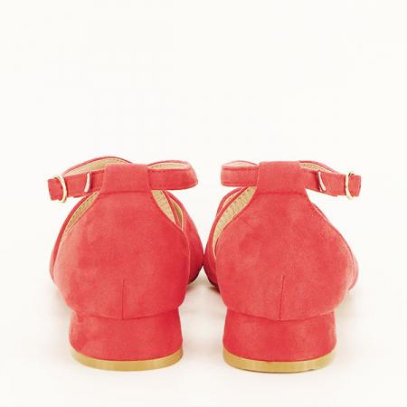 Pantofi rosu corai cu toc mic Carmen [5]