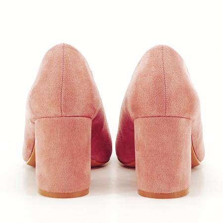 Pantofi roz cu toc gros Adelina3