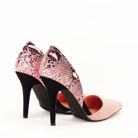 Pantofi roz pudra decupati lateral Lori [6]