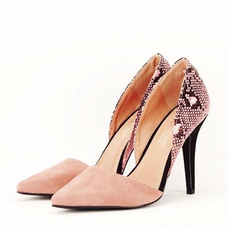 Pantofi roz pudra decupati lateral Lori [1]
