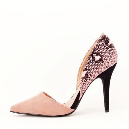Pantofi roz pudra decupati lateral Lori [0]
