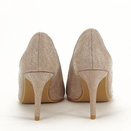 Pantofi sampanie cu toc Oana [5]
