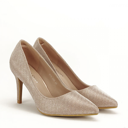 Pantofi sampanie cu toc Oana [2]