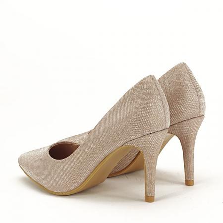 Pantofi sampanie cu toc Oana [3]