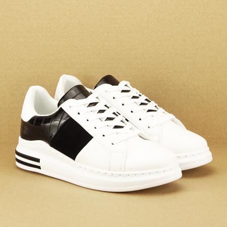 Sneakers alb cu negru Carise [3]