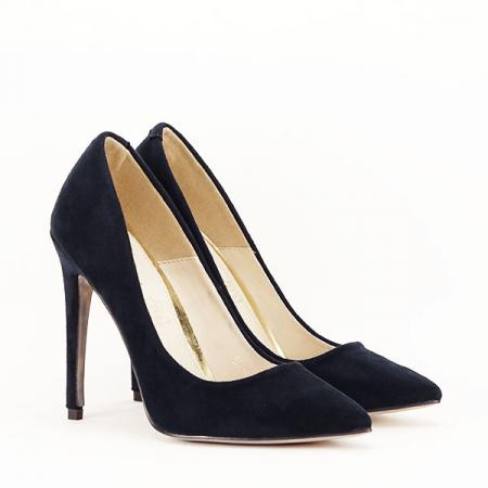 Pantofi stiletto bleumarin Grace2