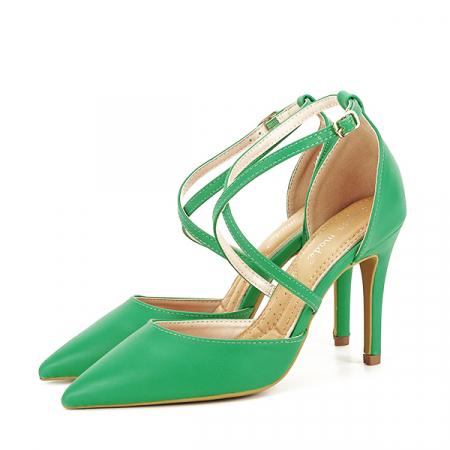 Pantofi verde crud cu toc cui Zoe [1]
