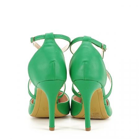 Pantofi verde crud cu toc cui Zoe [5]