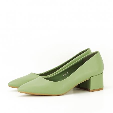 Pantofi verde fistic Anita1
