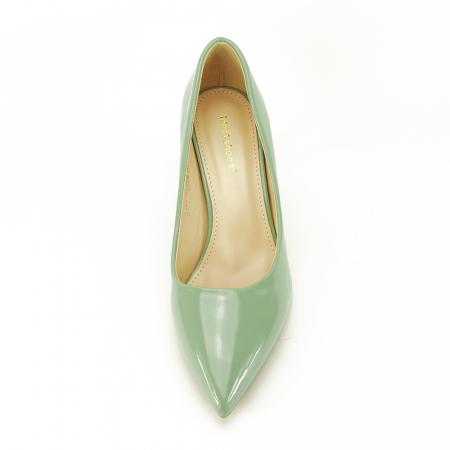 Pantofi verde fistic de lac Alma4