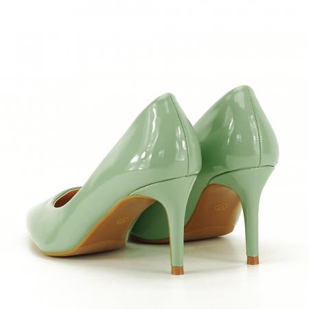 Pantofi verde fistic de lac Alma7