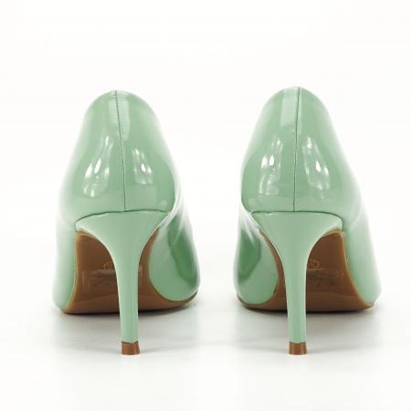 Pantofi verde fistic de lac Mella3