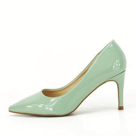 Pantofi verde fistic de lac Mella1