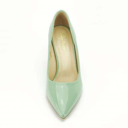 Pantofi verde fistic de lac Mella5