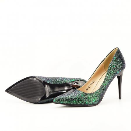 Pantofi verde smarald Mira4