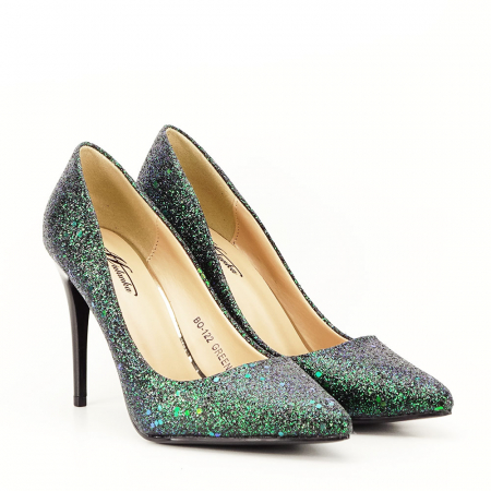 Pantofi verde smarald Mira1