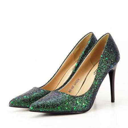 Pantofi verde smarald Mira5
