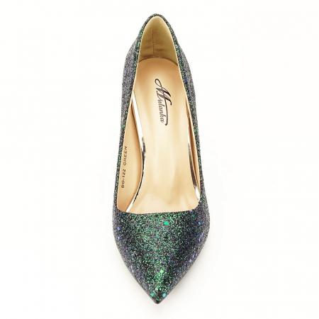 Pantofi verde smarald Mira7