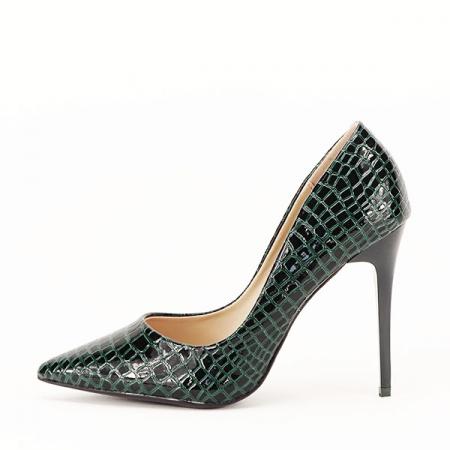 Pantofi verzi cu imprimeu Alice [0]