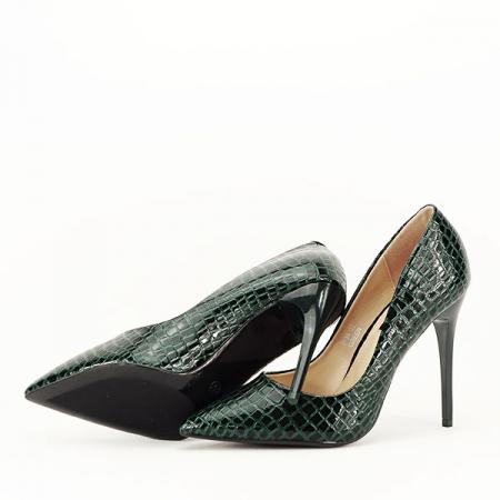 Pantofi verzi cu imprimeu Alice [7]