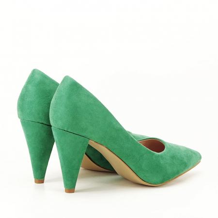 Pantofi verzi cu toc conic Dion5